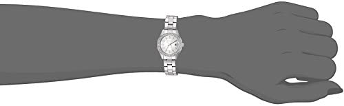 Caravelle Designed by Bulova Women's Quartz Watch with Stainless-Steel Strap, White, 14 (Model: 43M120)