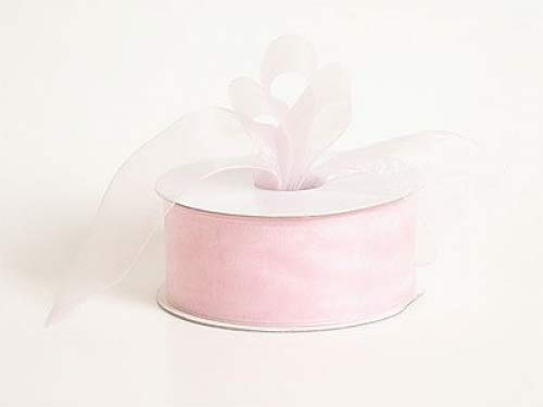 BBCrafts 1-1/2 inch 25 Yards - Light Pink - Sheer Organza Ribbon