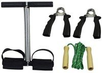3 WAY TRAINING SET JUMP ROPE, SPRING ROWER AND HANDGRIPS SPORT STORE