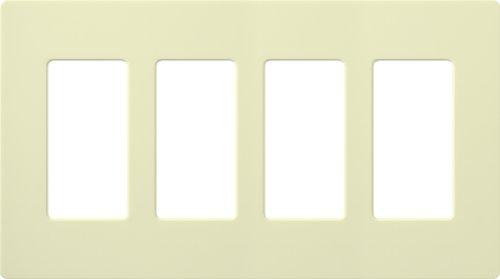 Lutron CW-4-AL Claro 4-Gang Wallplate, Almond