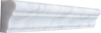 "Crown Mercer Molding 12"" HONED Carrara Marble Trim"