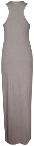 Neuf Taille Longue Encolure Purple Grande Dos Robe Ronde Femme Manche Sans Hanger Nageur Caf Uni Maxi Extensible Bxnq4wTpS