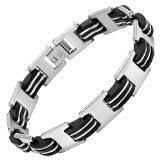 Willis Judd New Mens Stainless Steel Bracelet in Velvet Bracelet Box