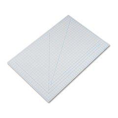 -- Self-Healing Cutting Mat, Nonslip Bottom, 1'' Grid, 24 x 36, Gray