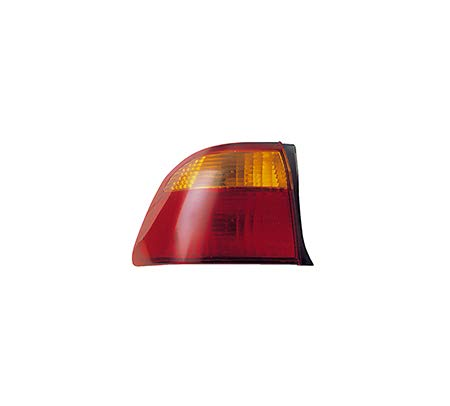 Fits 1999-2000 Honda Civic Rear Tail Light Driver Side Unit HO2818111 4dr For Sedan; body mounted - replaces 33551-S04-A51 00 Honda Civic 4dr Tail
