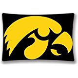 Power Offer NCAA Iowa Hawkeyes Pillow Case Cover 20X30 Inches 50x75 Cm (Two Sides) Birthday Gift (Iowa Pillow)