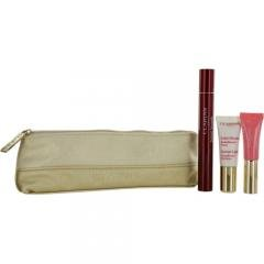 Clarins by Clarins SET-Instant Smoothing Essentials Set: Line Correcting Concentrate + Natural Lip Perfector #1 + Complexion Perfector #00 + bag --3pcs ()