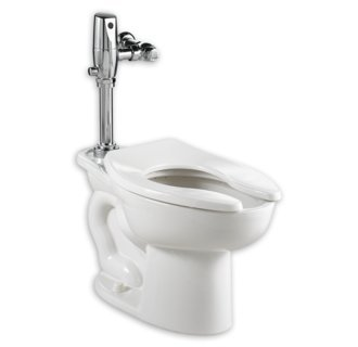 American Standard 2234.660.020 Madera 15-Inch Elongated 1.6 GPF Universal Toilet Bowl with Selectronic Flush Valve, White by American Standard
