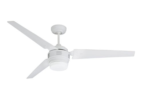 Emerson Ceiling Fans CF766SW 4th Avenue Modern Ceiling Fan With Light And Wall Control, 60-Inch Blades, Satin White Finish by Emerson