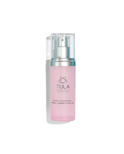 TULA Probiotic Skin Care Acne Clearing + Tone Correcting Gel | Acne Treatment, Clear Up Acne, Prevent Breakouts & Brighten Marks, Contains Salicylic Acid and Probiotics | 1 fl. oz. (Best Skin Care Regimen For Acne Prone Skin)