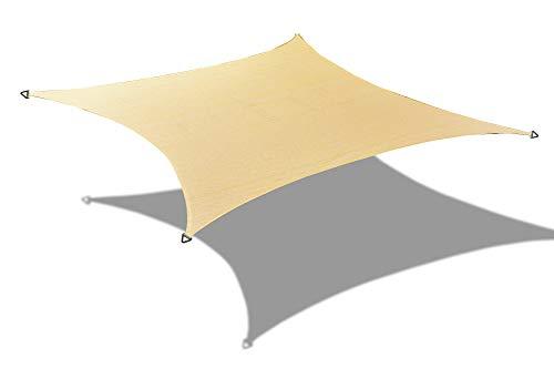 ALION HOME HDPE Rectangle Sun Shade Sail Permeable Canopy Custom 14 x 10 , Beige