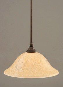 Toltec Lighting 23-BRZ-528 Stem Mini-Pendant Light Bronze Finish with Italian Marble Glass, ()