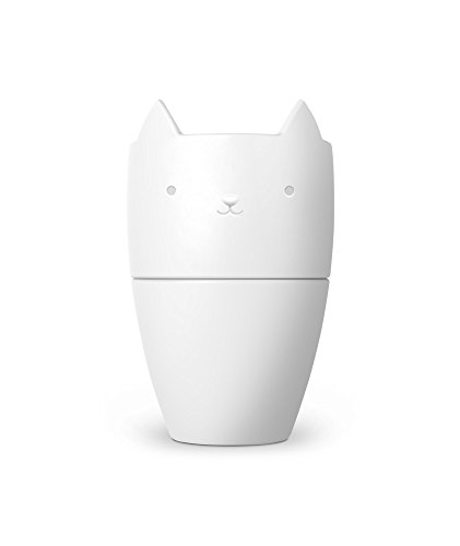 Fred 5229133 Purr Over Cat-Style Porcelain Pour Over Coffee Brewer, White by Fred & Friends
