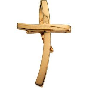 Pendentif Croix Or jaune 14carats