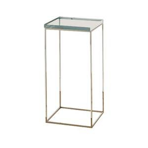 Small Chrome Pedestal with Clear Acrylic Top, 16 x 12 x 24 by Retail Resource