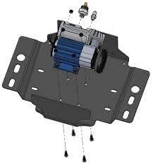ARB 3550210 Air Compressor Mounting Bracket for 2007-18 Jeep Wrangler JK 4-Door Quality Bracket System