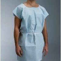 Graham Medical 44507 Gown Exam TPT 30x42''Disp Blue 50/Ca