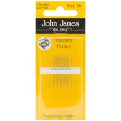 Colonial Needle Bulk Buy Tapestry Petites Hand Needles Size 26 6 Pack JJ199-26 (12-Pack) by Colonial Needle