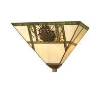 Pinecone 2 Light Sconce - Meyda Tiffany 20635 Pinecone Ridge - Two Light Wall Sconce, Mahogany Bronze Finish with Bark Brown/C