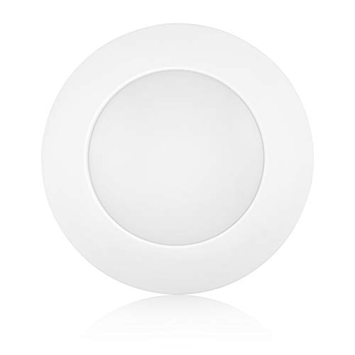 Worbest 7.5 Inch Dimmable White LED Disk Light Flush Mount Ceiling Fixture Energy Star and UL Listed, 13W(80W Equivalent) 800lm CRI80 3000K, LED Low Profile Recessed & Surface Mount Light -
