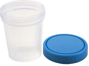 Polypropylene Specimen Container: 4 Oz., Non Sterile, Case of ()