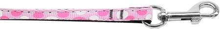 Mirage Pet Products Confetti Dots Nylon Collar Leash, 3 8  by 6', Light Pink