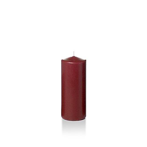 Case of 16 - Yummi 2.25'' x 5'' Burgundy Slim Pillar Candles by Yummi (Image #2)