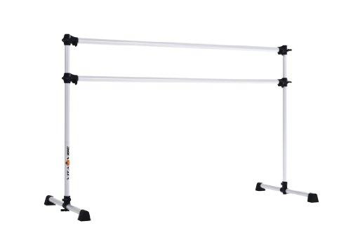Vita Vibe BD60 Prodigy Series Portable Double Freestanding Ballet Barre, Stretch/Dance Bar, 5-Feet