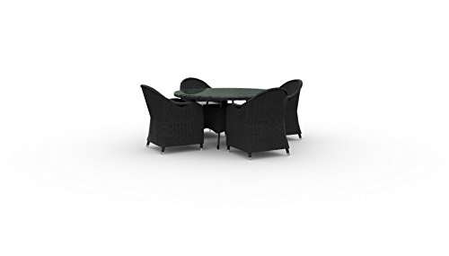 Marbella Round Outdoor Dining Table with chairs, PE Rattan Wicker (4 Round Chairs, Cast Ash) price