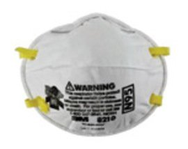 3M™ Standard N95 8210Plus Disposable Particulate Respirator With Braided Headband And Adjustable Nose Clip - Meets NIOSH And OSHA Standards (20 Each Per Box)