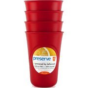 Preserve Cups 4ct Red