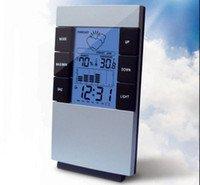 Estacion Meteorologica Reloj Termometro LED Con gráfico evolucion clima Humedad despertador oficina -- Weather Station