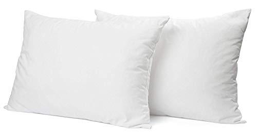 DECOMIL- Luxury Sleeping Pillows,%100 Cotton, 3 Standard Size Options (2 Packs) (Queen)