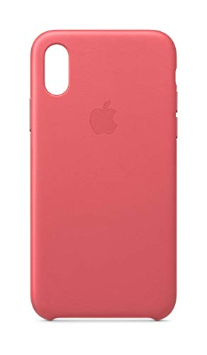 Apple Leather Case (for iPhone Xs) - Peony Pink