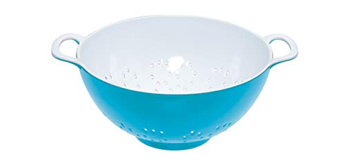 Colourworks Two Tone Melamine Colander Small 15cm (700ml) Blue/white, Tagged ()