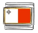 Malta Flag Italian Charm...