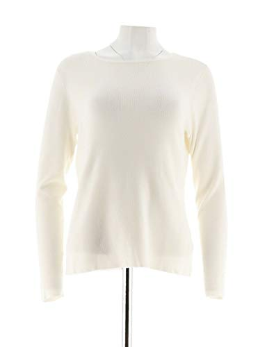 Linea Louis Dell'Olio Whisper Knit Long SLV Sweater Winter White XS New A285546 from Linea by Louis Dell'Olio