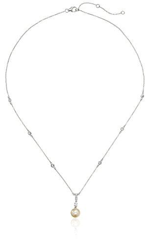 Crislu Pendant - Crislu Platinum Plated Sterling Silver Cubic Zirconia Bridal Pendant