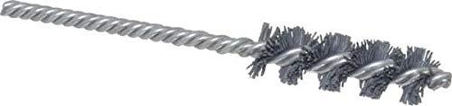 5 OAL 320 Grit Single Spiral Tube Brush Silicon Carbide Abrasive 2 Brush Length Weiler 5//8 Brush Diam 3 Pack