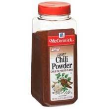 McCormick Light Chili Powder - 18 oz. container, 6 per case