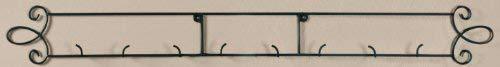 "Augusta Black Horizontal Plate 44.75""W Wall 4-Place Rack"