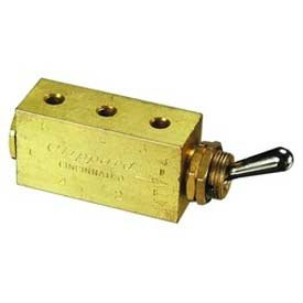 Clippard M-MTV-4 4-Way Toggle Valve, Enp Steel Toggle, M5 from Clippard