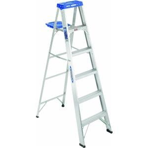 Werner 366 250-Pound Duty Rating Aluminum Stepladder, 6-Foot
