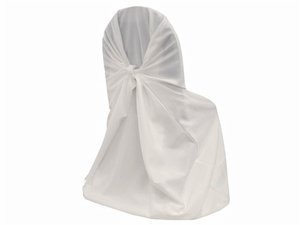 Spring Rose White Polyester Universal Chair Cover . Heavy Du
