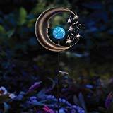 Innovative Solar Moon Garden Light Stake in Silver/Blue