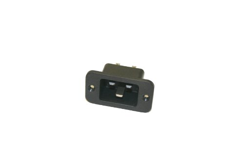 Interpower 83030410 IEC 60320 C20 Power Inlet With Solder Tabs, IEC 60320 C20 Socket Type, Black, 16A/20A Rating, 250VAC Rating by Interpower