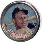 Louis St Coin (1964 Topps Metal Coins (Baseball) Card# 5 dick groat of the St. Louis Cardinals ExMt Condition)