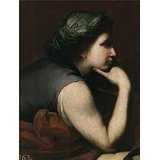 Oil Painting Ribera Jose De Media Figura De Mujer  Fragmento De El Triunfo De Baco  Ca  1635  Printing On Perfect Effect Canvas   16 X 21 Inch   41 X 54 Cm  The Best Gift For Girl Friend And Boy Friend And Home Artwork And Gifts Is This Beautiful Art Decorative Prints On Canvas