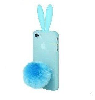 Fur Bunny Tail - Newstore Cute Lovely Light Blue Bunny
