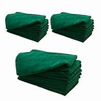 YC° Dark Green 300GSM 16'' X 23'' Microfiber Cleaning, WAXING and POLISHING Cloth (150)